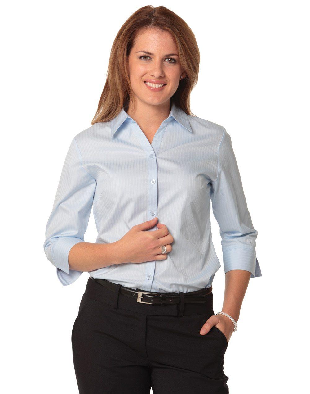 69e6763a17e Women s Self Stripe 3 4 Sleeve Shirt